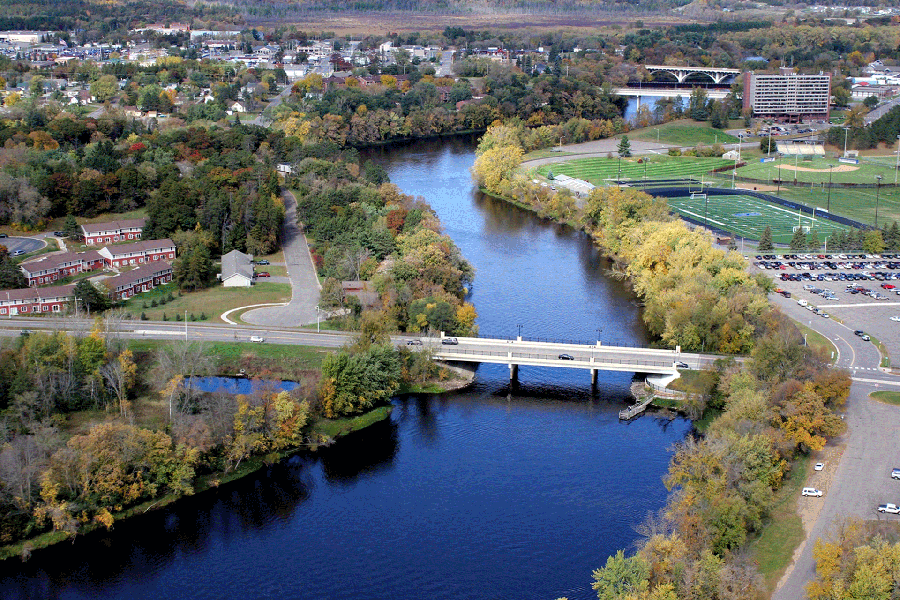 Aerial Photo of River and Brainerd