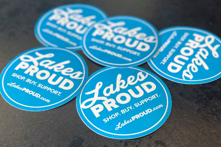 Blue Lakes Proud Stickers