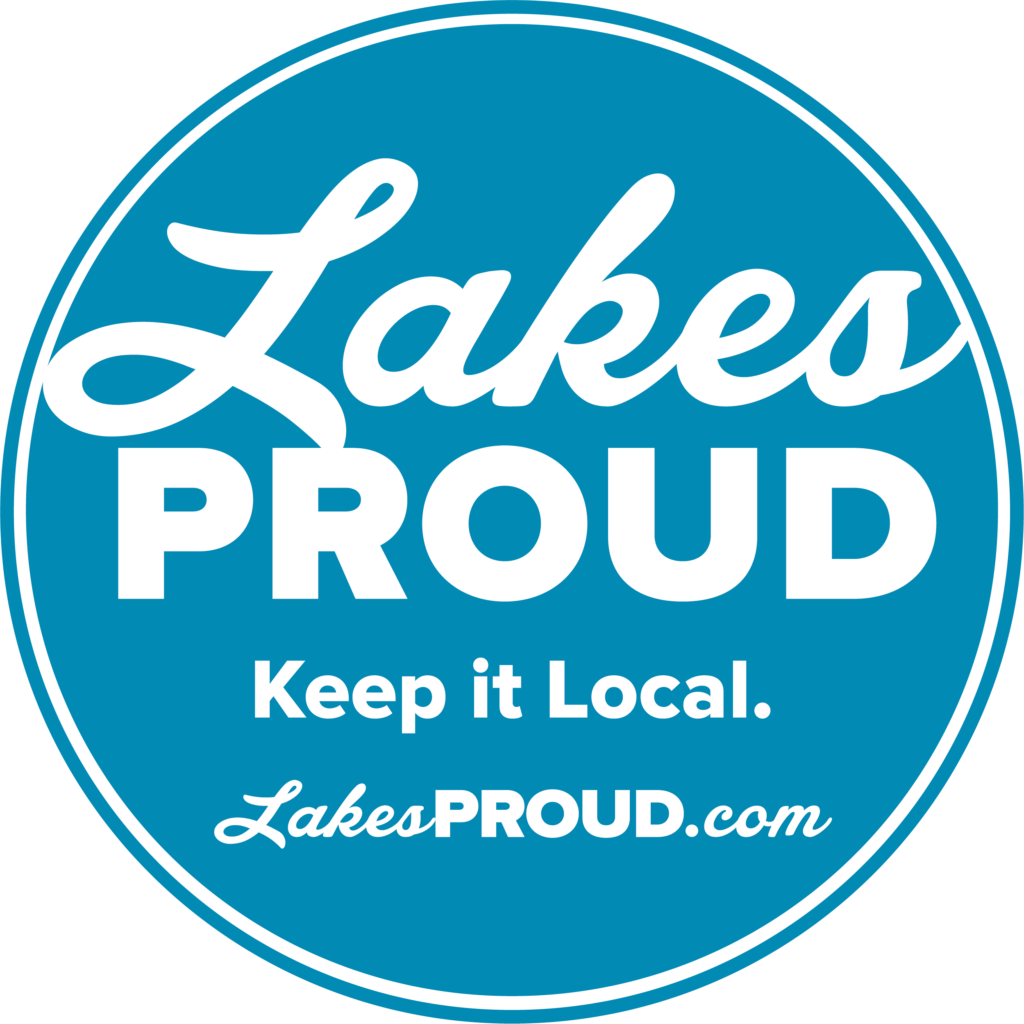 Lakes Proud Blue Circle Logo